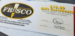 Friscos Gift Certificate